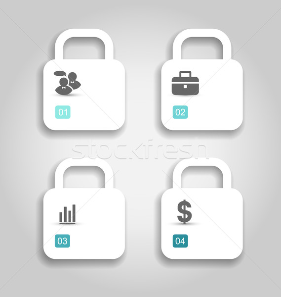 Set brochures can be used for infographics, numbered banners Stock photo © smeagorl