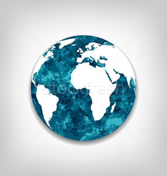 Zapisać ziemi globalne ocieplenie ilustracja streszczenie charakter Zdjęcia stock © smeagorl