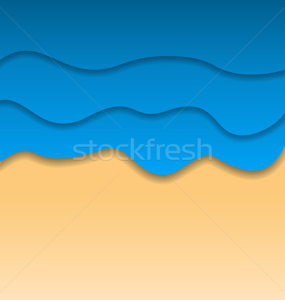 Summertime beach background, paper cut style Stock photo © smeagorl