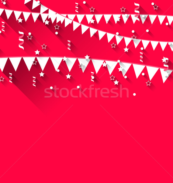 Cute background with hanging pennants for carnival party in tren Stock photo © smeagorl