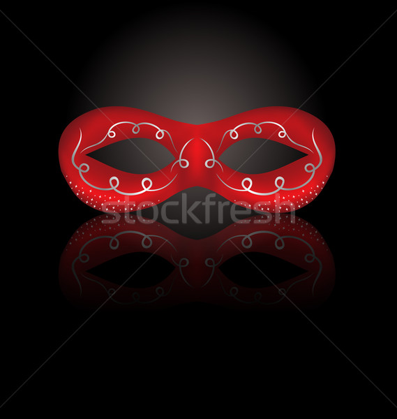 Theater red mask with reflection on black background  Stock photo © smeagorl
