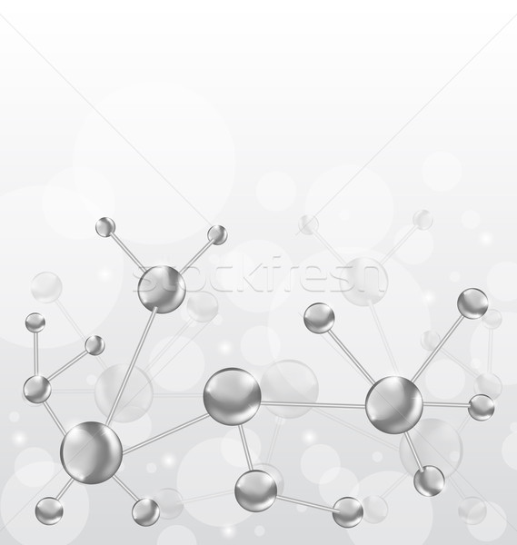Molecular structures chain with copy space Stock photo © smeagorl