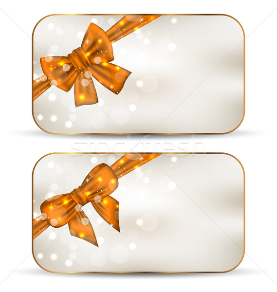 Set of cute cards with gift bows Stock photo © smeagorl