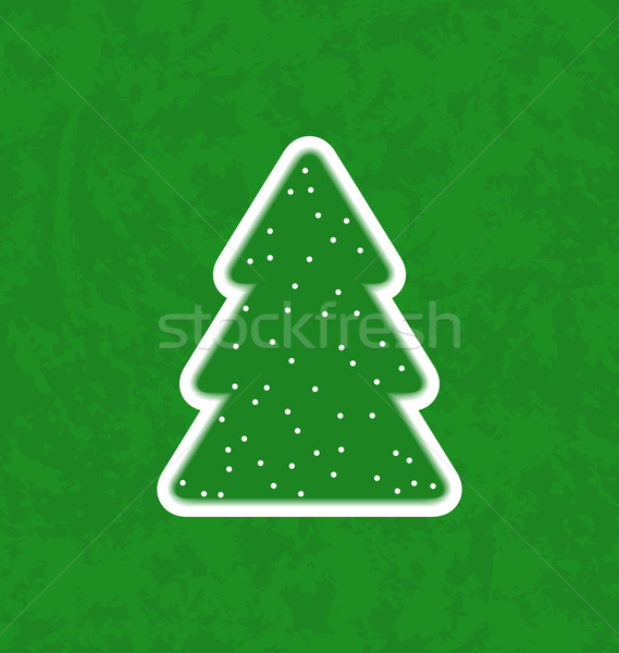 Green paper cut-out christmas tree Stock photo © smeagorl