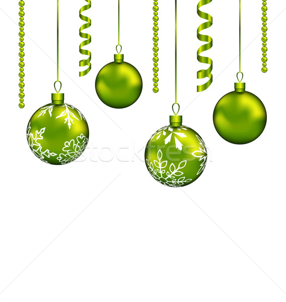 Christmas balls with streamer and copy space for your text Stock photo © smeagorl