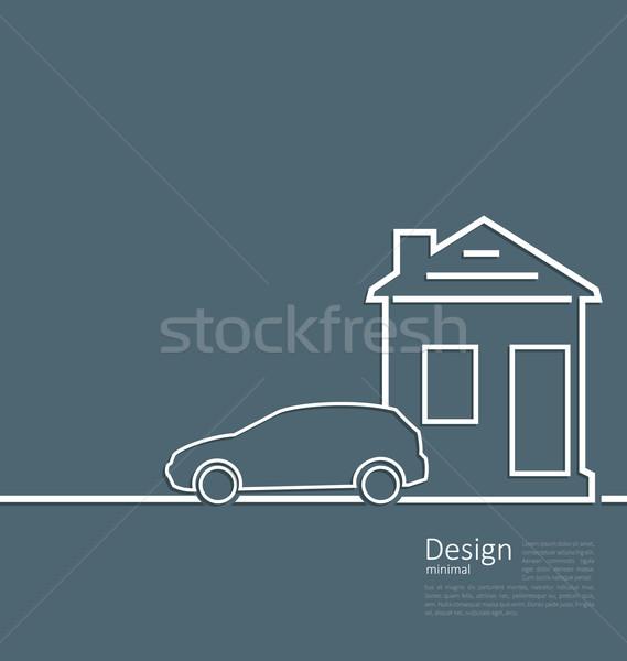 Internetowych szablon domu parking samochodu logo Zdjęcia stock © smeagorl