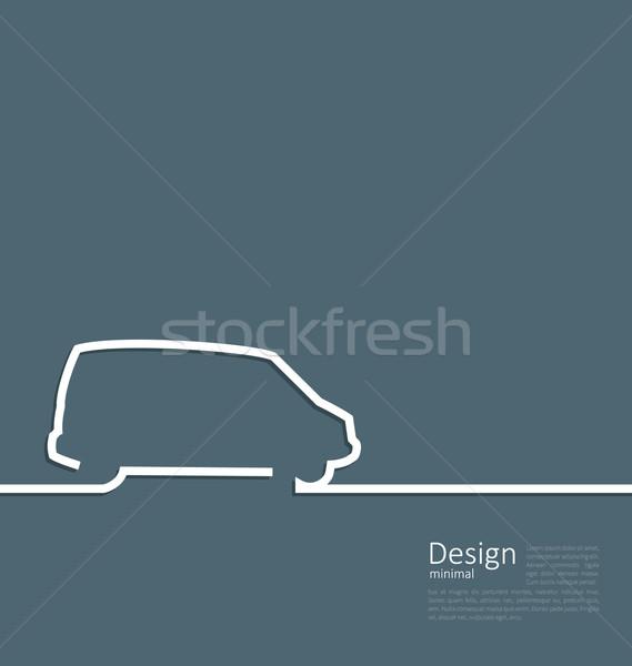 дизайна автомобилей микроавтобус линия скорость автомобиль Сток-фото © smeagorl