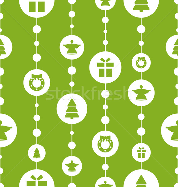Christmas Seamless Pattern with Traditional Elements Stock photo © smeagorl