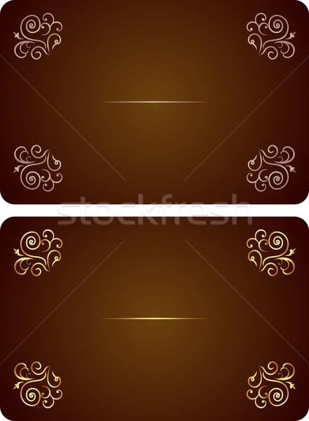 Luxe kaart uitnodiging vector mooie bloem Stockfoto © smeagorl