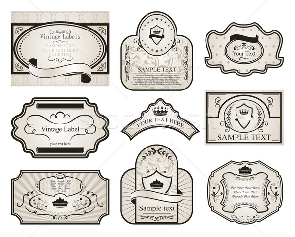 set retro variation vintage labels (2) Stock photo © smeagorl