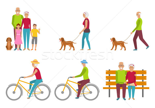 Happy Grandparents. Elderly Couple. Pension Liasure. Retirement Stock photo © smeagorl