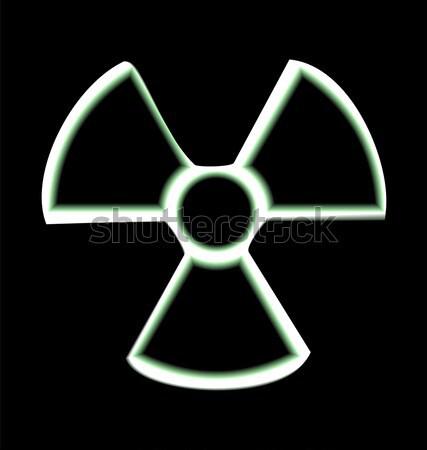 Ilustração aviso símbolo radioativo perigo isolado Foto stock © smeagorl