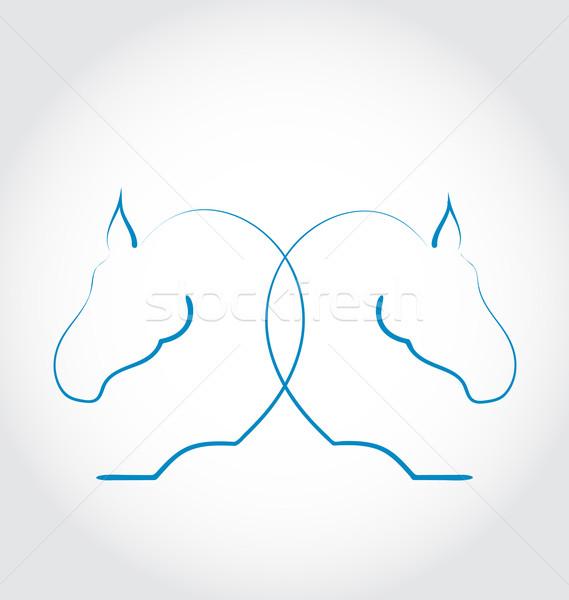 Imzalamak iki atlar stilize örnek Stok fotoğraf © smeagorl