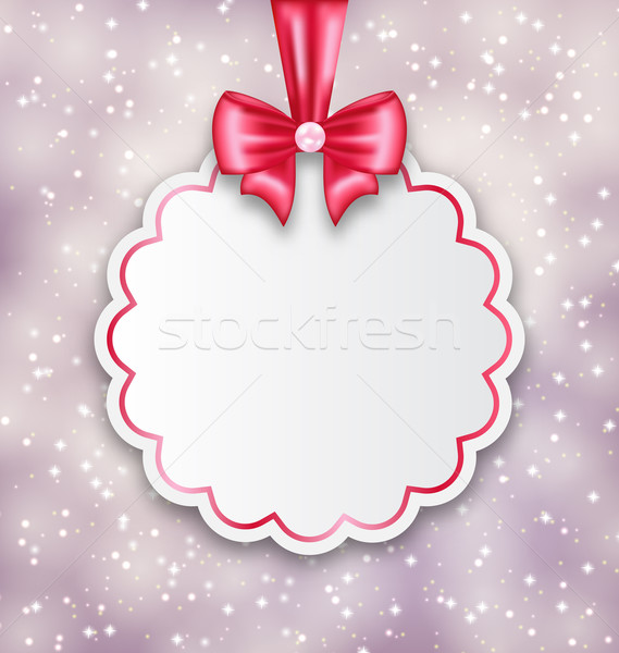 Shimmering background with celebration paper card for Valentine  Stock photo © smeagorl