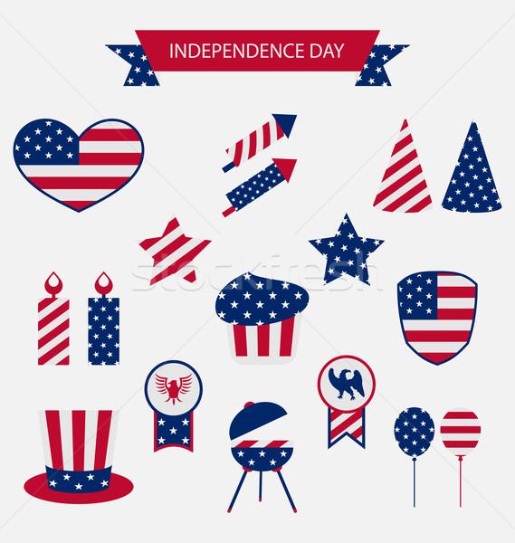 USA vlag kleur dag Stockfoto © smeagorl