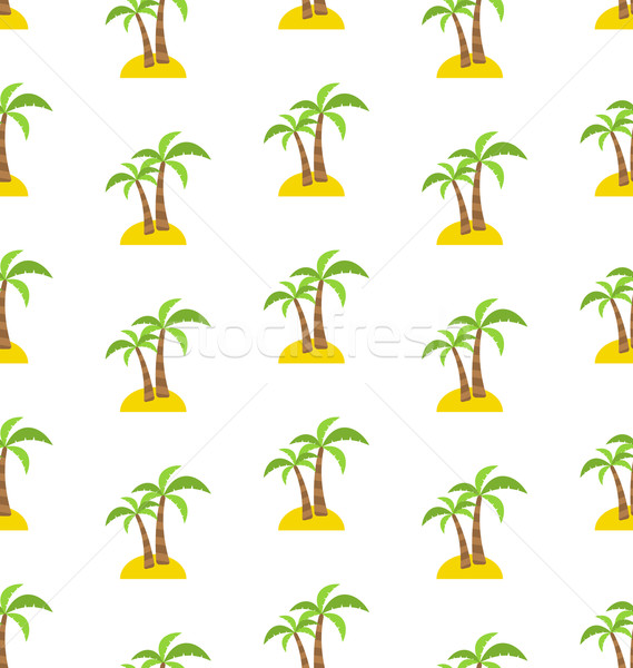 Abstract Seamless Pattern with Tropical Palm Trees. Summer Backg Stock photo © smeagorl