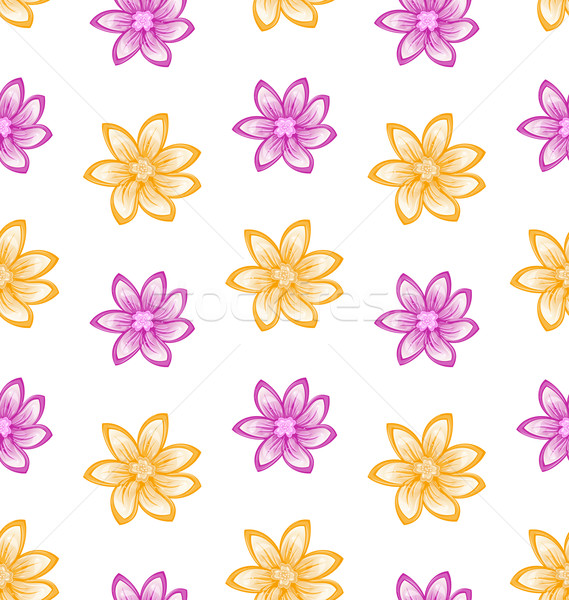 Summer Seamless Pattern with Colorful Flowers Stock photo © smeagorl