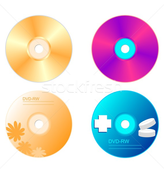 Realistic illustration set DVD disk Stock photo © smeagorl