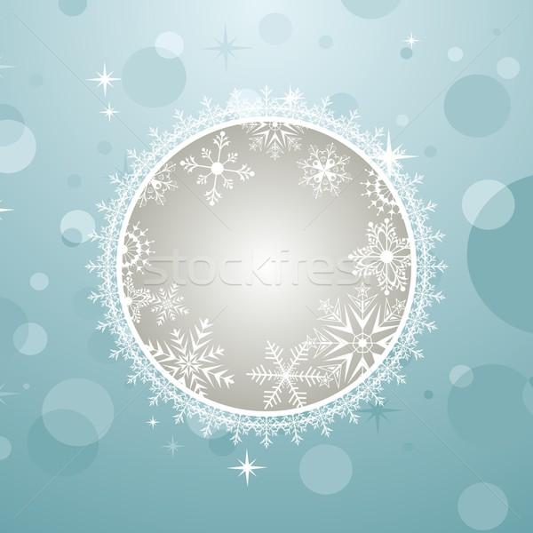 Christmas invitation with effect bokeh Stock photo © smeagorl