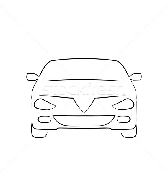 Abstract car isolated on white background, front side  Stock photo © smeagorl