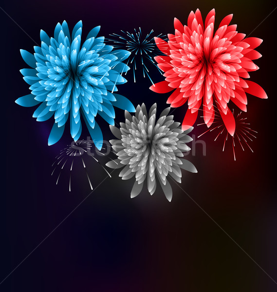 Illustration Firework Colorized in Flag US for Celebration Event Stock photo © smeagorl