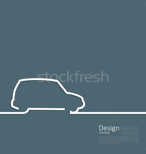 Laconic Design Car Minibus Cleanness Line Stock photo © smeagorl