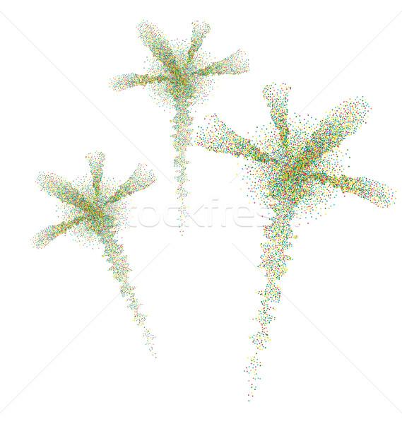 Wakacje kolorowy cząstki konfetti christmas Zdjęcia stock © smeagorl