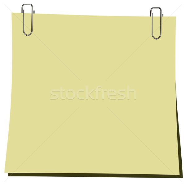 реалистичный иллюстрация Stick скрепку бумаги школы Сток-фото © smeagorl