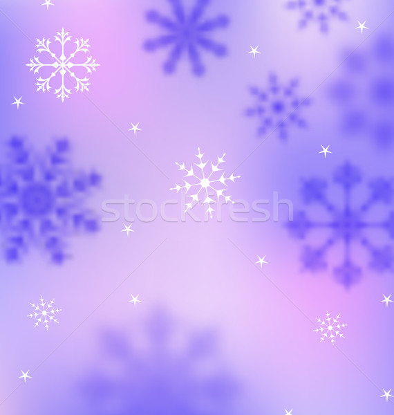 Hiver wallpaper flocons de neige floue bannière illustration Photo stock © smeagorl