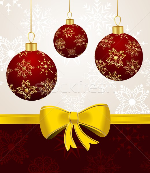 background with Christmas balls Stock photo © smeagorl