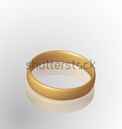 Jewelry golden ring with reflection Stock photo © smeagorl