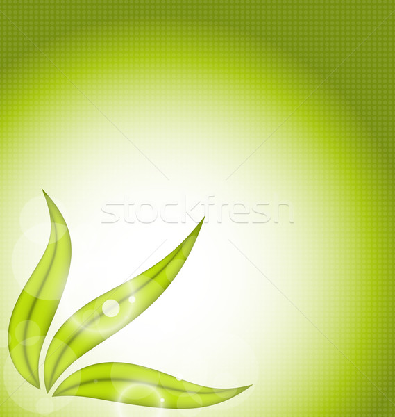 Nature background with green leaves Stock photo © smeagorl