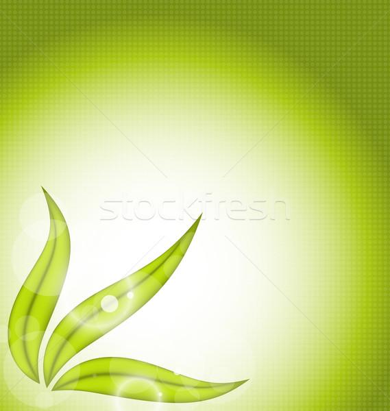 Természet zöld levelek illusztráció fény háttér nyár Stock fotó © smeagorl