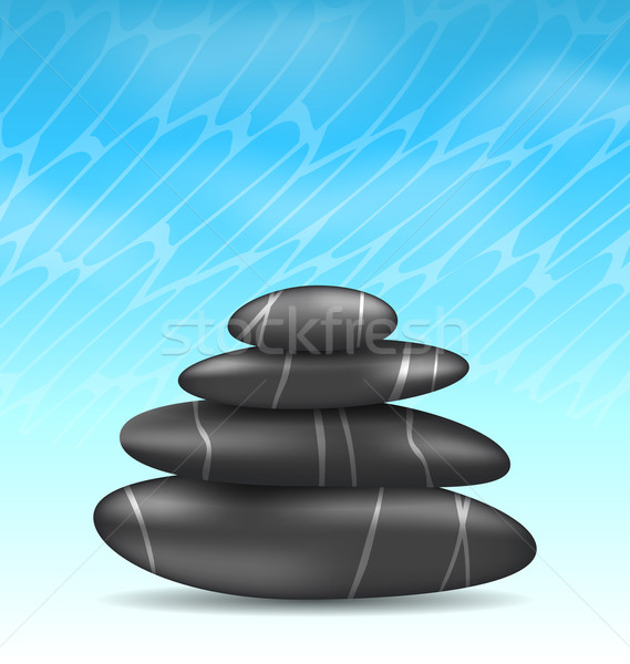 Nature background with pyramid zen spa stones Stock photo © smeagorl