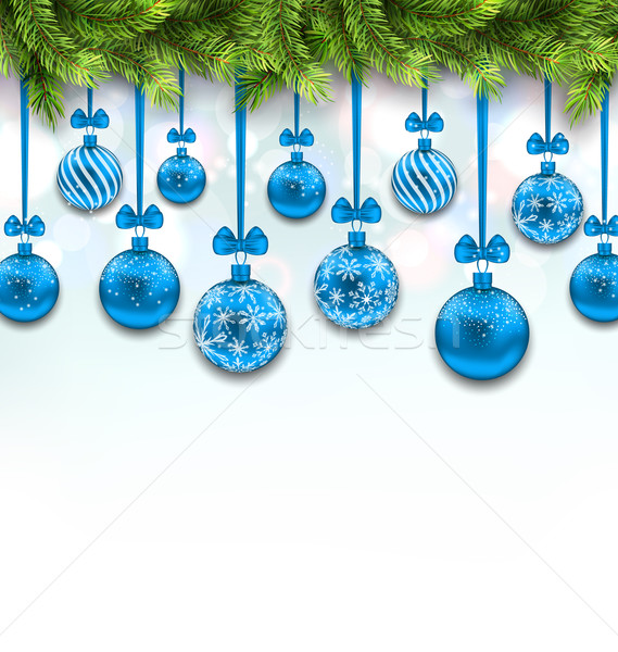 Luz wallpaper ilustración abeto azul Foto stock © smeagorl