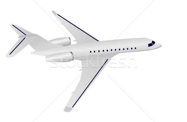 Realistic illustration aircraft Stock photo © smeagorl