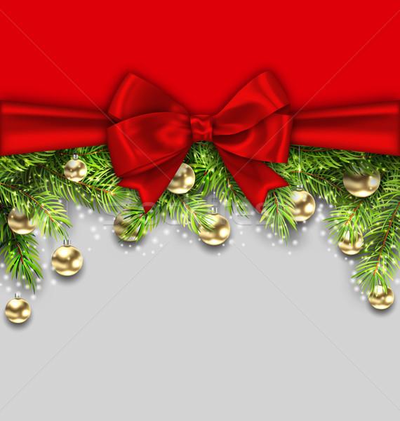 Noël vacances sapin or verre Photo stock © smeagorl