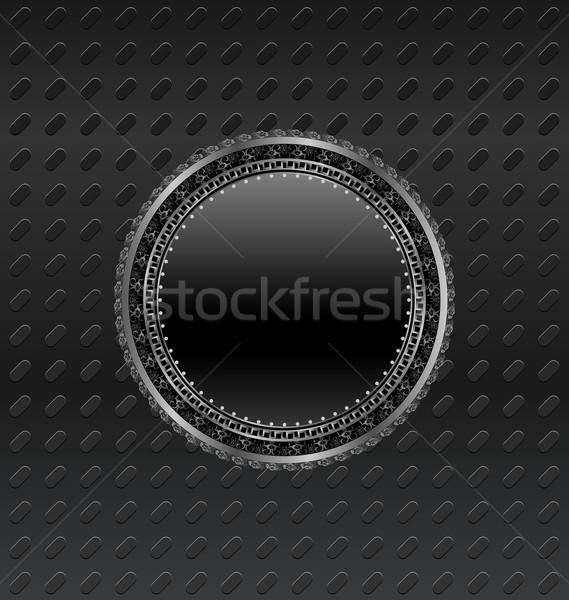 Círculo escudo titânio ilustração segurança assinar Foto stock © smeagorl