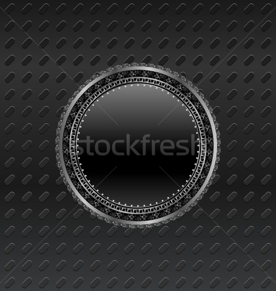 heraldic circle shield on titanium background Stock photo © smeagorl