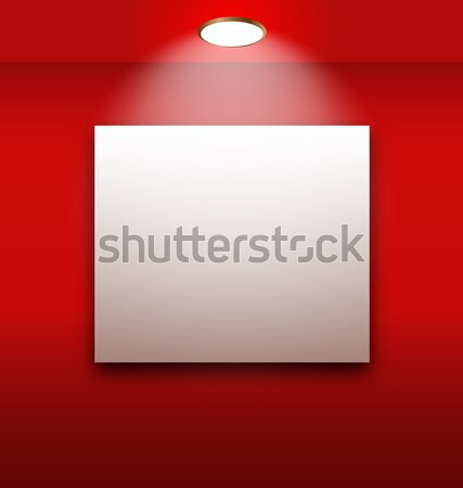 Galería interior vacío marco pared ilustración Foto stock © smeagorl