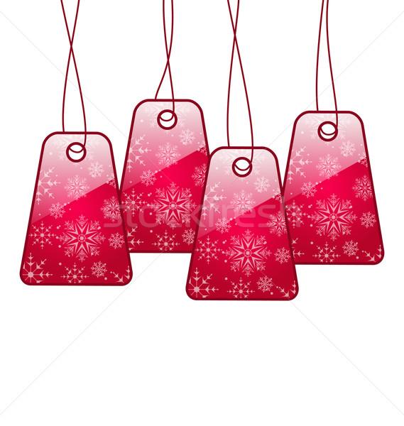 Lucido etichette isolato bianco illustrazione design Foto d'archivio © smeagorl