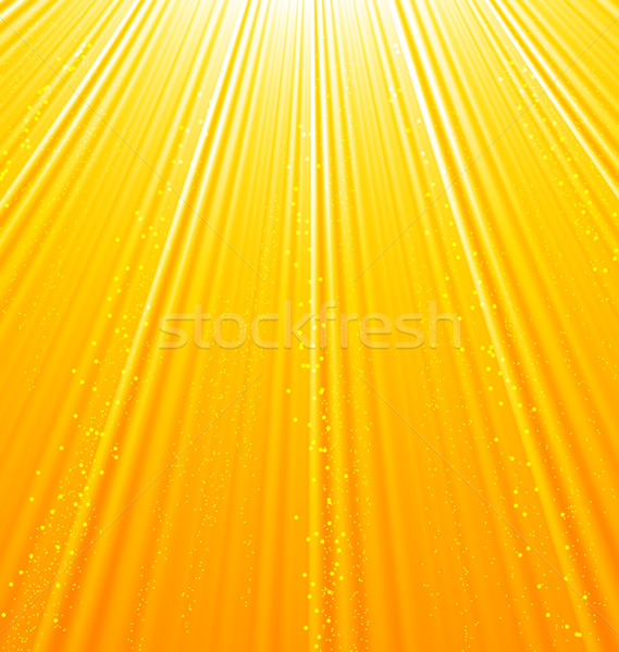 Stock photo: Abstract orange background with sun light rays