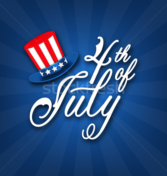 Happy 4th of July Card, Traditional American Banner Stock photo © smeagorl