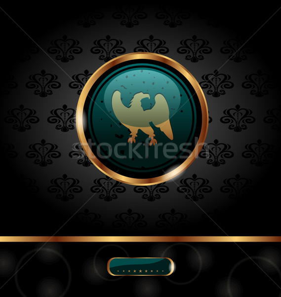 golden packing with heraldic eagle Stock photo © smeagorl