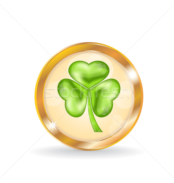 Trefoil icon isolated for Saint Patrick day Stock photo © smeagorl