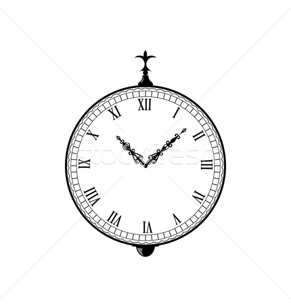 Vintage clock with vignette arrows  Stock photo © smeagorl