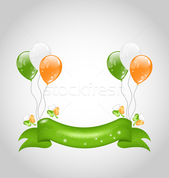 Irish balloons with clovers and ribbon for St. Patrick's Day Stock photo © smeagorl