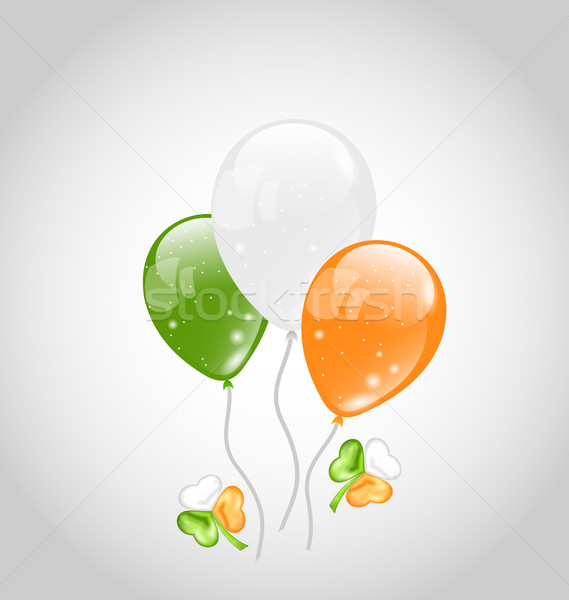 Irish colorful balloons with clovers for St. Patrick's Day Stock photo © smeagorl