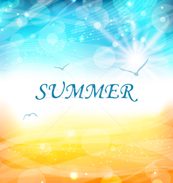 Summer Holiday Background, Glowing Wallpaper Stock photo © smeagorl