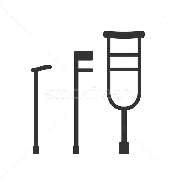 Stock photo: Crutches and Canes